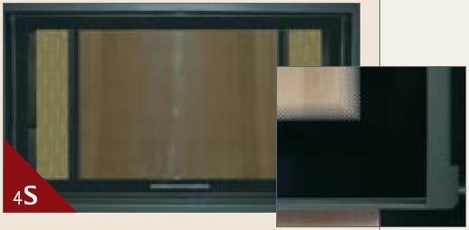 4-seitg bedruckte Glaskeramik am Kamineinsatz von Spartherm